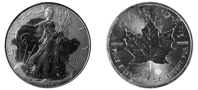 Milk Spots Silver Bullion Coins